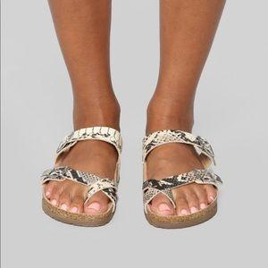 Snake Skin Sandal